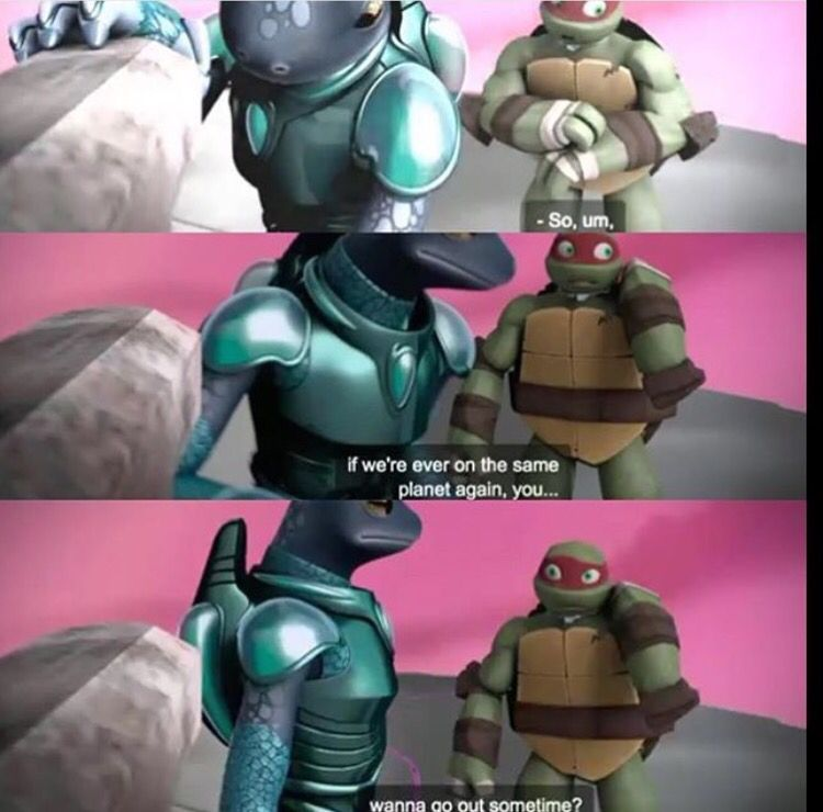Wow. Raph, did you actually ask Mona out on a date?