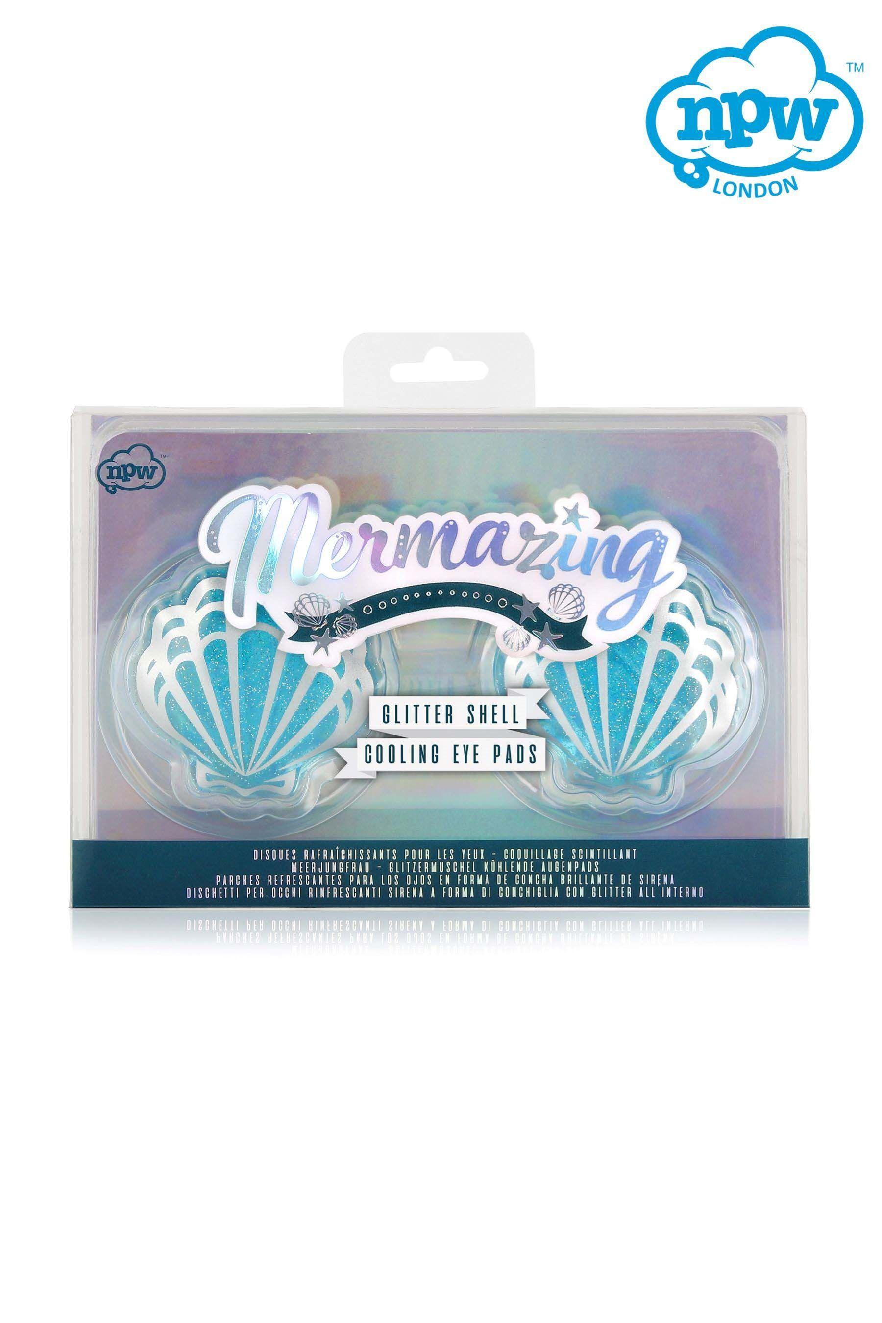 Womens Npw Mermazing Glitter Shell Cooling Eye Pads No Colour