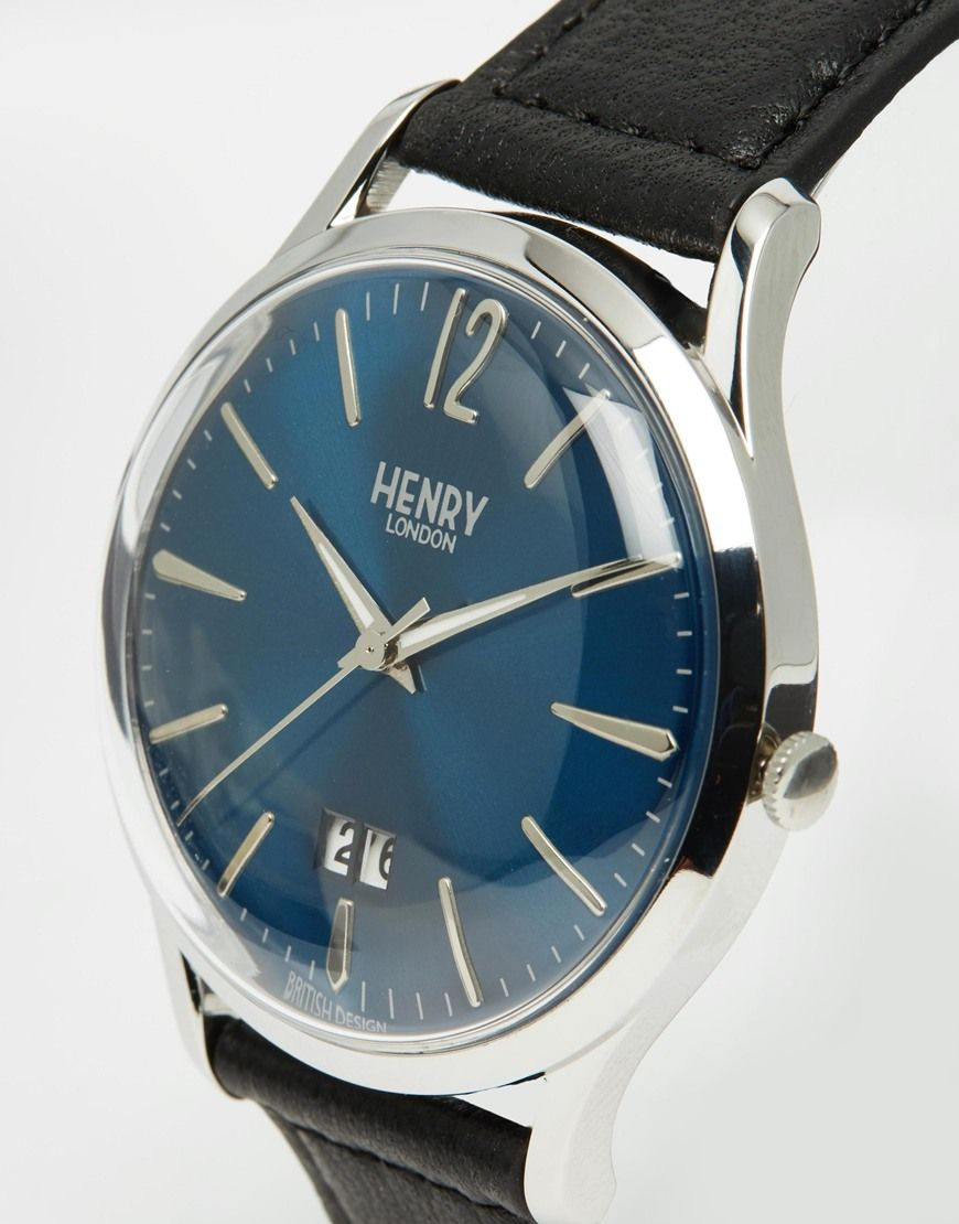 Image 2 of Henry London Knightsbridge Watch With Leather Strap