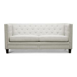 Parkis Linen Button Tufted Sofa In Beige Nebraska Furniture Mart