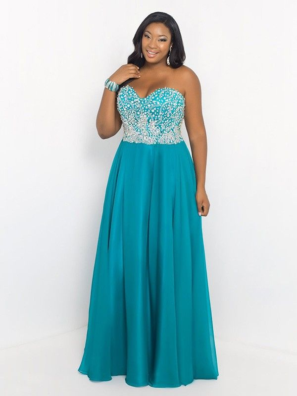 A-Line/Princess Sweetheart Floor-length Beading Sleeveless Chiffon ...