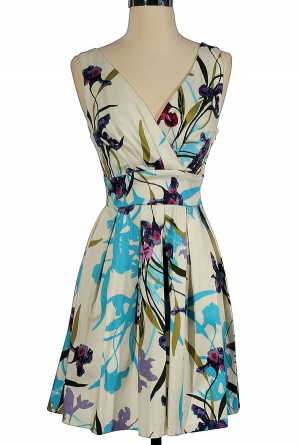 In The Garden Floral Print Dress $38 - cute!