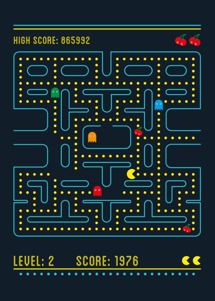 Pacman Art Print By Virbia Society6 Video Game Wall Art Pacman Hypebeast Wallpaper