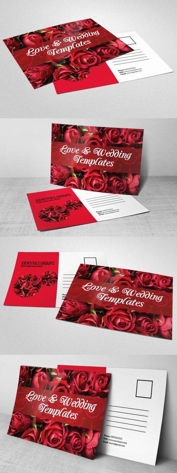 Elegant Wedding Invitation Postcard . Creative Card Templates. $6.00 ...
