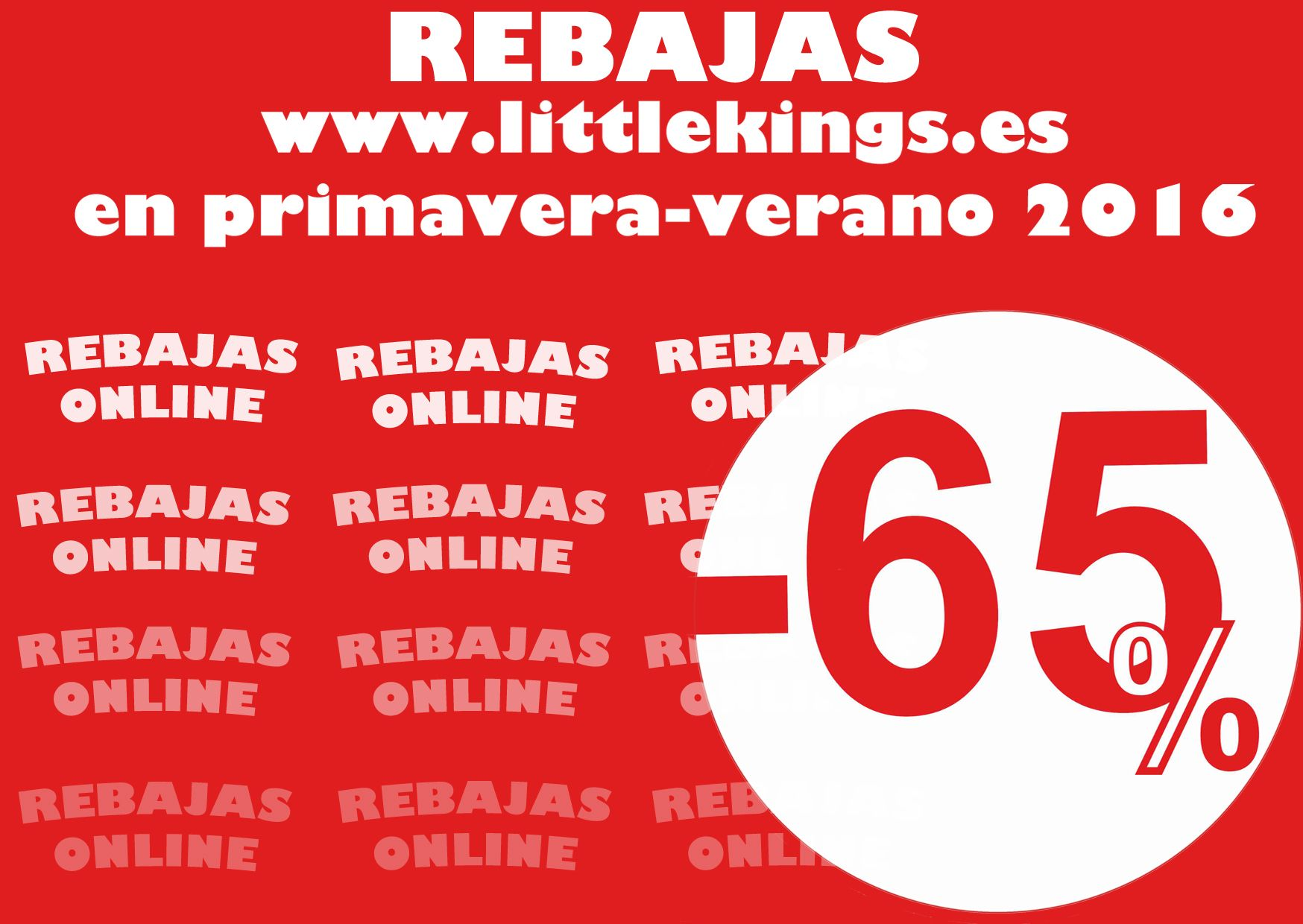 Hoy en nuestra web http://www.littlekings.es/tiendaonline