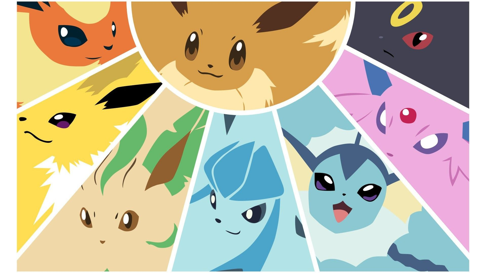 Pokemon Flareon Eevee Vaporeon Jolteon Eeveelutions Leafeon Wallpaper Eevee Wallpaper Pokemon Flareon Eevee Evolutions