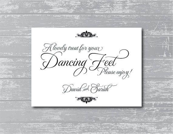 Custom Dancing Feet Sign 5x7 DIY Wedding Poster by CreativePapier, $7.00