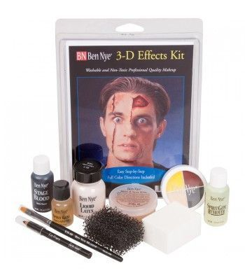 Dk 2 This Hollywood 3d Special Fx Kit Has Quality Components And Step By Step Special Effects Makeup Halloween Makeup Kits Cool Halloween Makeup
