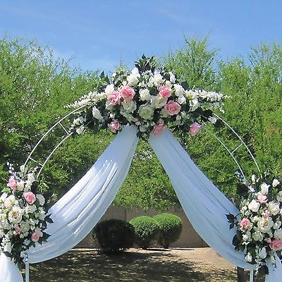 White Metal Arch Wedding Garden Bridal Party Decoration Prom Flower ...