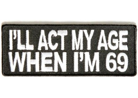 BRAND NEW I/'M LOVING IT FUNNY ADULT BIKER IRON ON PATCH
