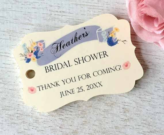 bridal shower tags thank you tags bridal shower by paperloveprints