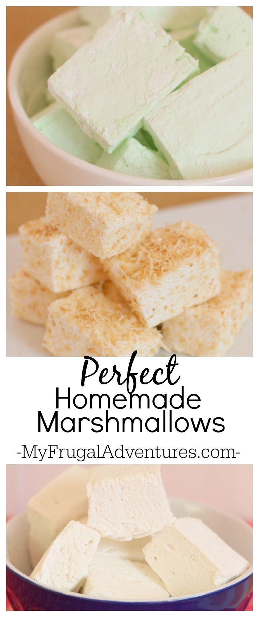 How to Make Homemade Marshmallows #marshmallow