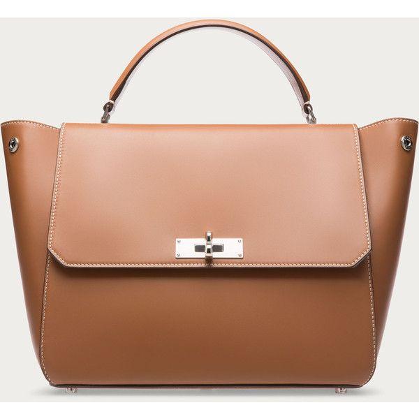 5fa6d76735 Bally B TURN MEDIUM Women s calf leather top handle bag in tan ...