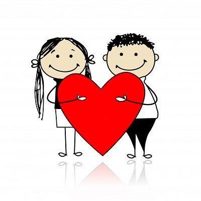 Amor Munecos Palito Munequitos Enamorados Dia De San Valentin Sobre De Carta