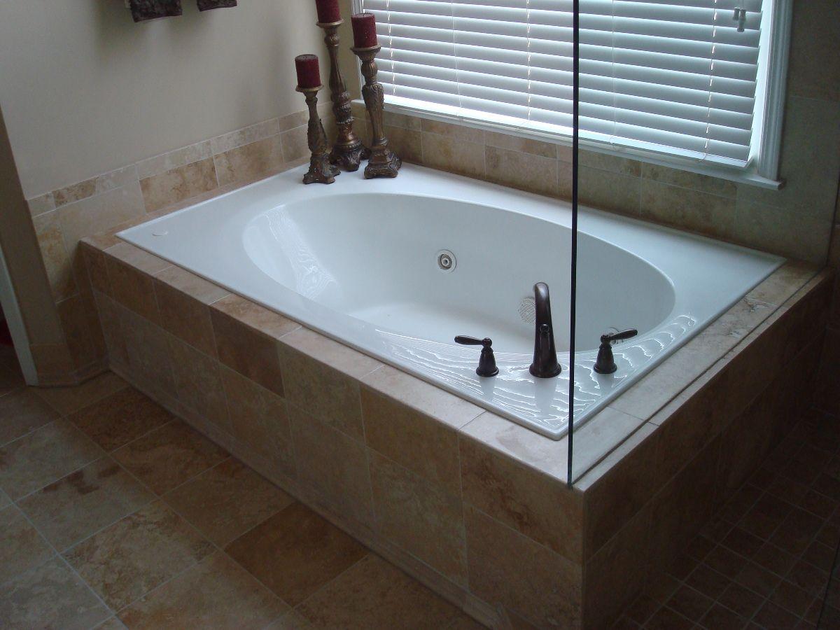 travertine master tub surround - Google Search | Bathroom remodel ...