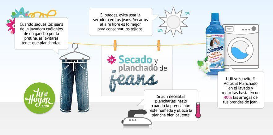 secado y planchado de jeans