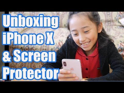 9 year-old girl's REACTION to iPhone X - YouTube