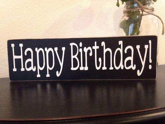 Black And White 3 1 2x12 Wood Happy Birthday By Creativitylovesco Happy Birthday Signs Happy Birthday Black White