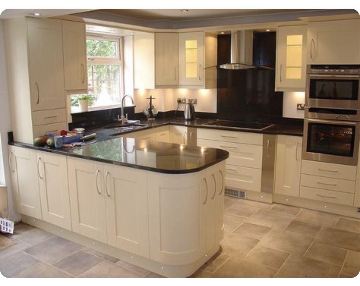 Pin By Chasethecat On Cream Kitchen Kitchen Layout Solid Wood Kitchens Solid Wood Kitchen Cabinets