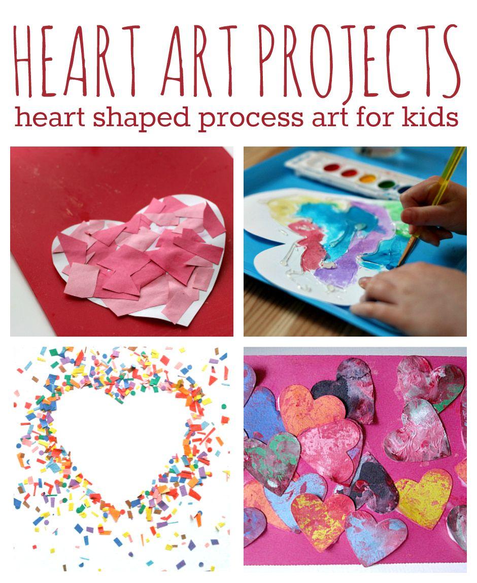 11 Heart Art Projects For Kids Valentine Art Projects Heart Art