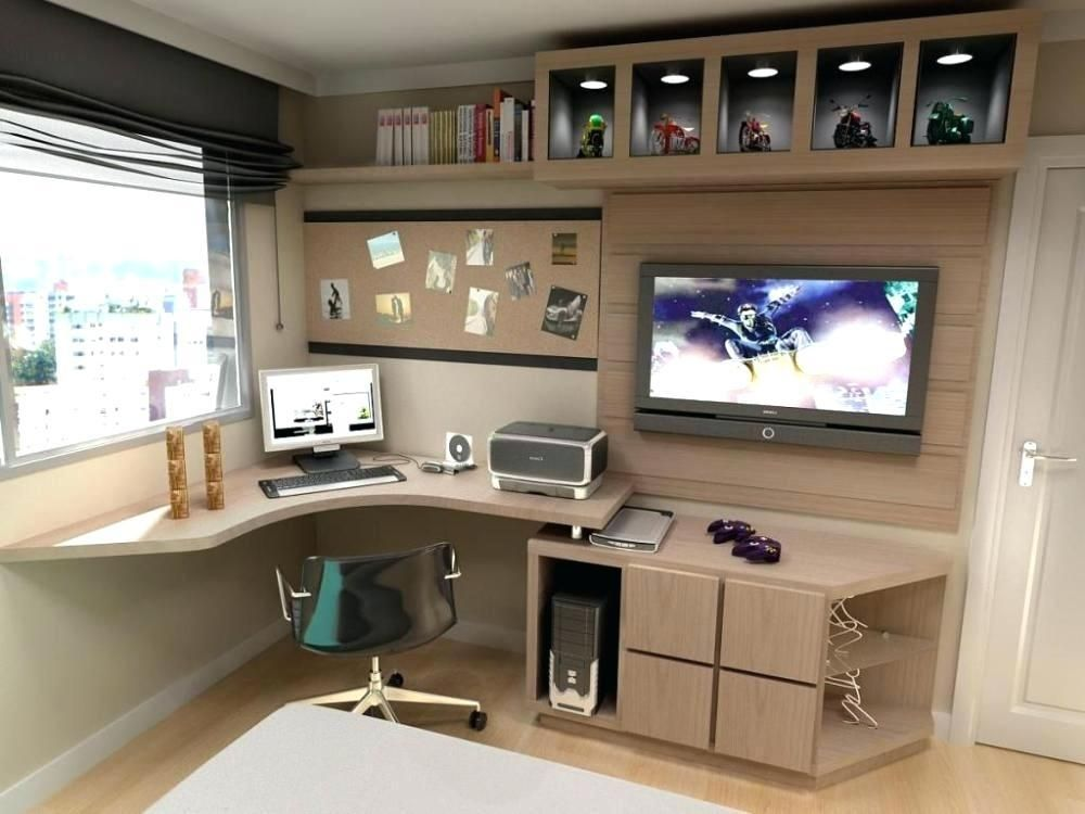 20 Collection Of Tv Stand And Computer Desk Combo Tv Cabinet And Stand Ideas Home Office Design Home Office Decor Small Office Design