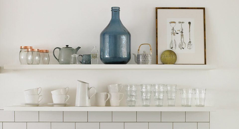 English Country Goes City Wimbledon Floating Shelves Kitchen And White Floating Shelves