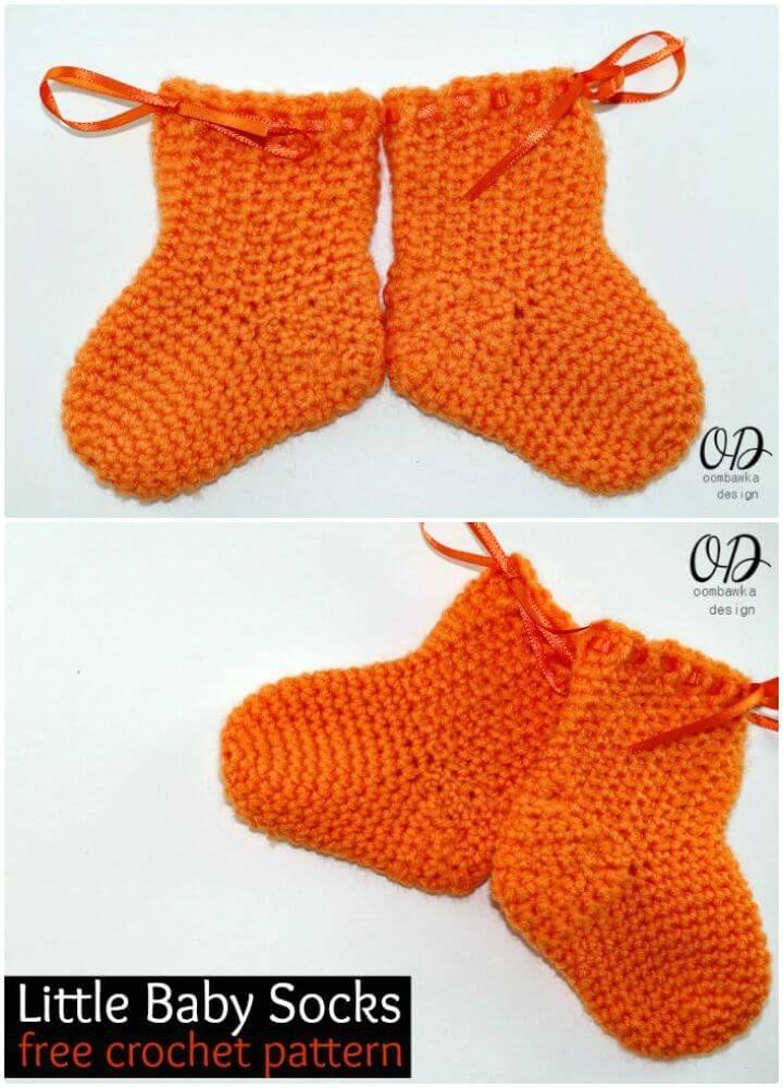 Crochet Socks - 35 Free Crochet Socks Pattern | Zapatos de bebé ...