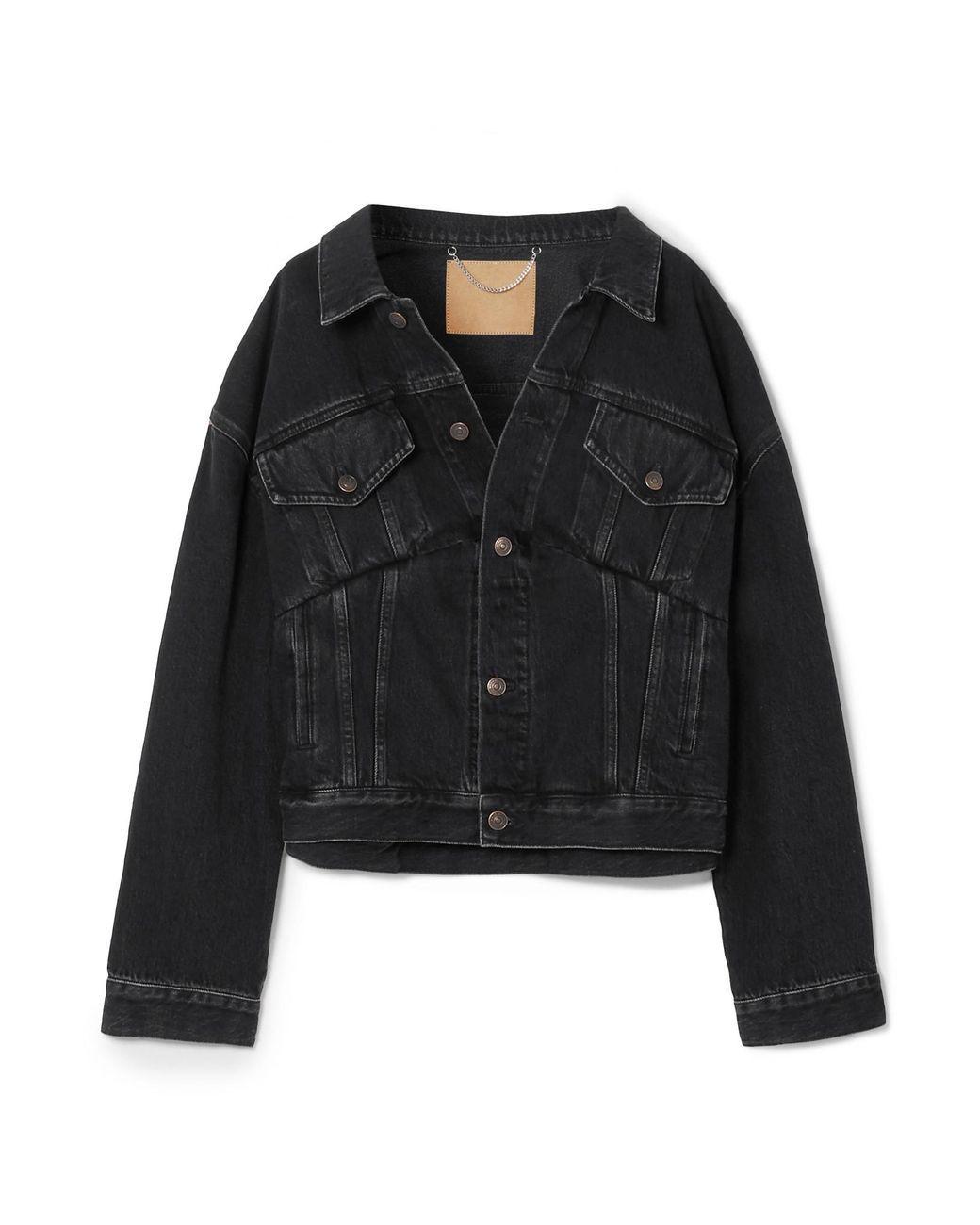 0ea5cc5fe2d42a Balenciaga - Black Oversized Denim Jacket - Lyst
