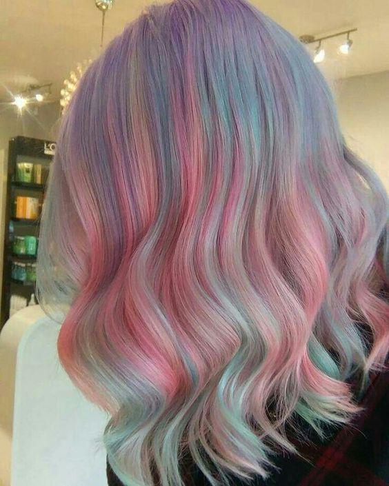 10 ideias de cabelos coloridos lindos - Crescendo