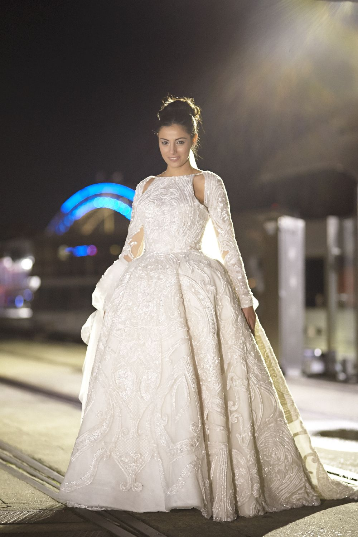 Juaton wedding dress for an elegantclassic and timeless wedding in