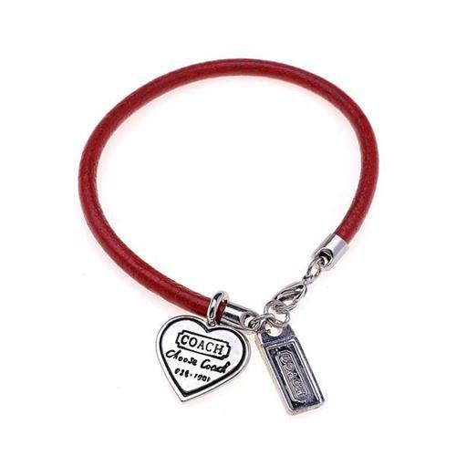 $12.99  cuddlestudios.com - High Quality Coach Heart Logo Red Bracelets ALA, I'm in love!