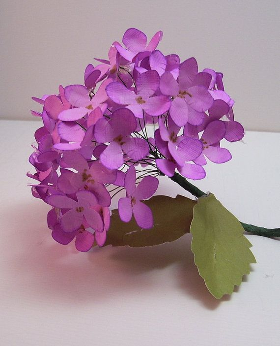 Lushious Hydrangias, Color of your choice,Paper flower, Bouquet ...