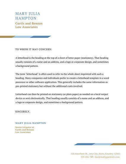 White Simple Law Firm Letterhead  Law Firm Letterhead Design