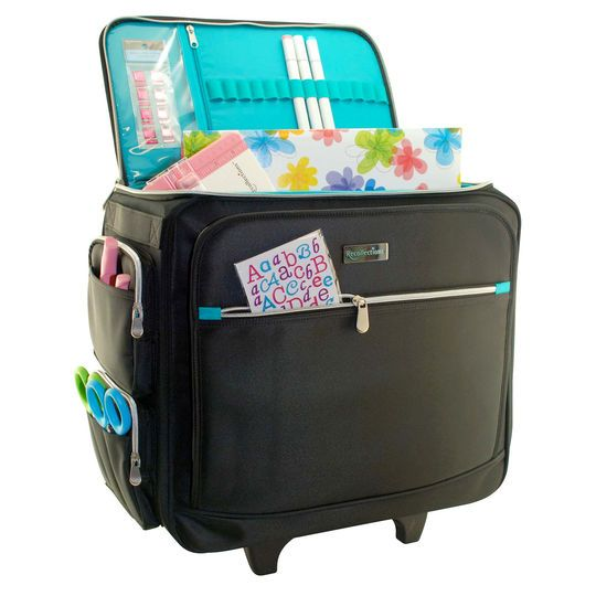 Madison Rolling Tote By Recollections Scrapbook Storage Tote