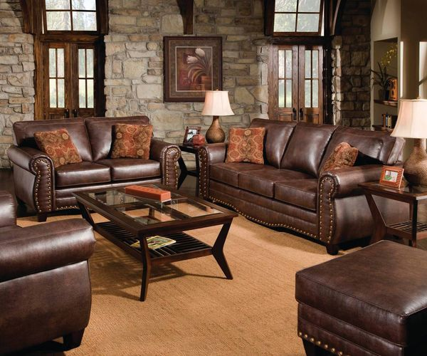 Brown Couch Living Room Design: The Hamilton Avenue Brown Sofa Set