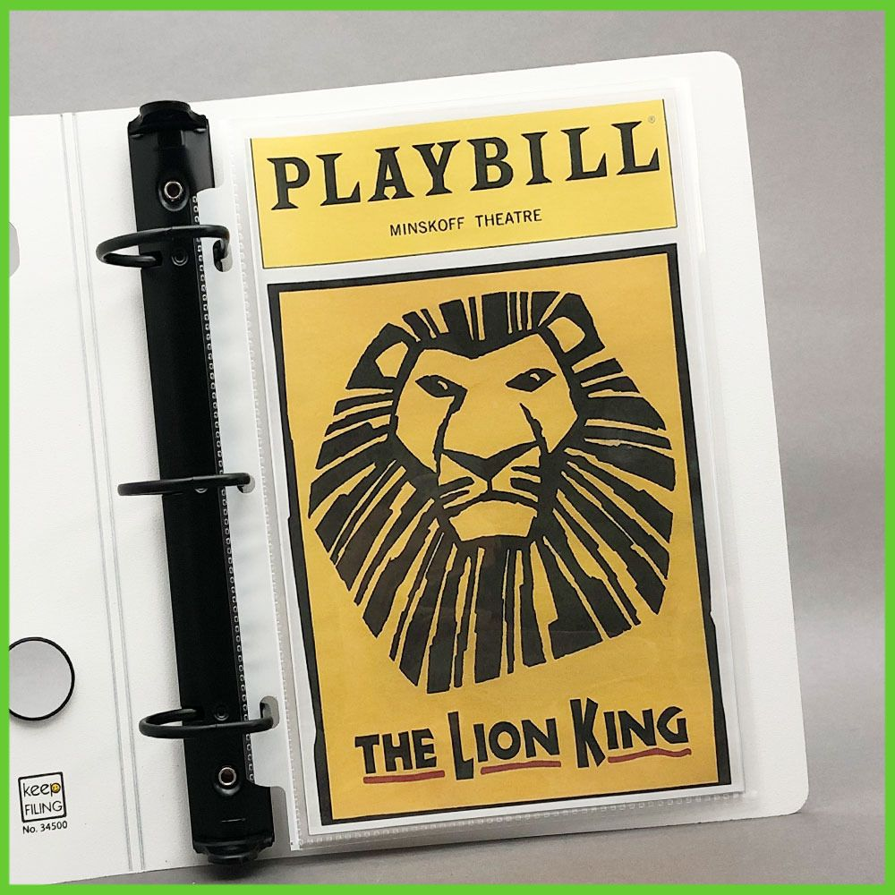 Playbill Binder Sheet Protector Sleeves
