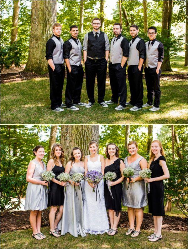 Cadre champ tre pour un mariage violet et argent mariage for Robes de demoiselle d honneur pour le mariage d automne en plein air