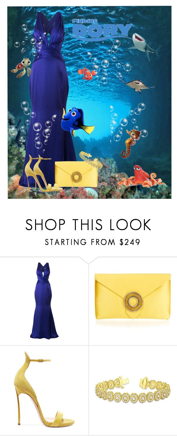 """Dory"" by mozzy18 ❤ liked on Polyvore featuring Romona Keveža, Disney Pixar Finding Dory, Disney, Wilbur & Gussie, Casadei and Allurez"