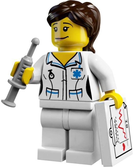 LEGO 4 NEW DOCTOR MINIFIGURES FEMALE NURSES SURGEONS FIGURES NEEDLES MORE