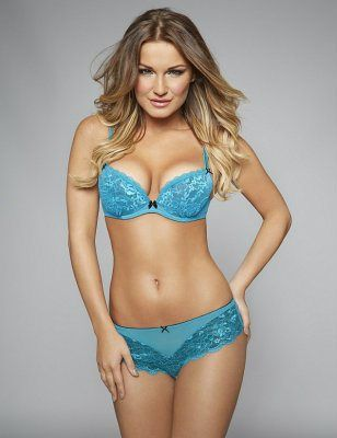 7c5f9dffe5 British model Sam Faiers in Ann Summers Sexy Lace