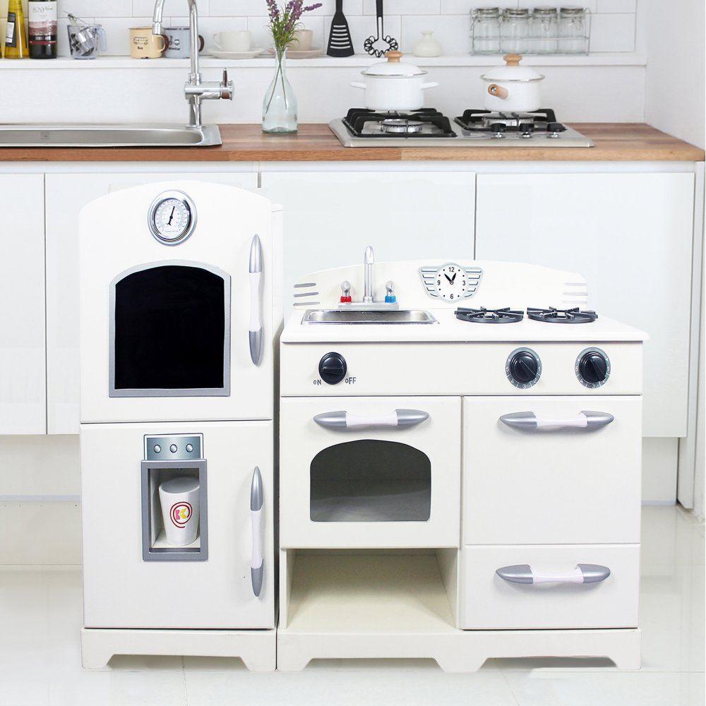 Teamson Kids 2 Piece Wooden Play Kitchen Set - Play Kitchens at ...