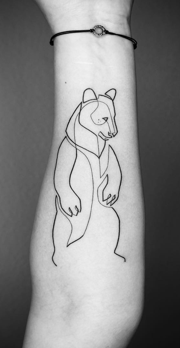 24 Creative Arm Tattoo Designs For Men That All Women Love A Simple Linework Or Geometric Design Is Mo Tattoo Arm Designs Tattoos For Guys Bear Tattoo Designs
