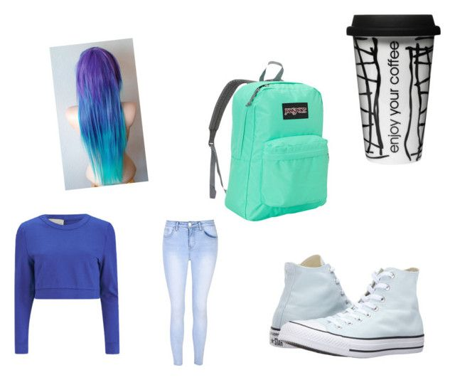 """On the way to school"" by maddierosecarter on Polyvore featuring Dot & Bo, Converse, JanSport, Lavish Alice and Glamorous"