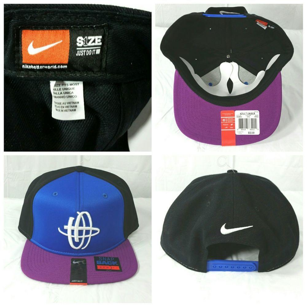 b537d67042db7 NIKE AIR HUARACHE Snapback Unisex Hat Cap  694804 010 New NWT  Blue Black Purple  NIKE