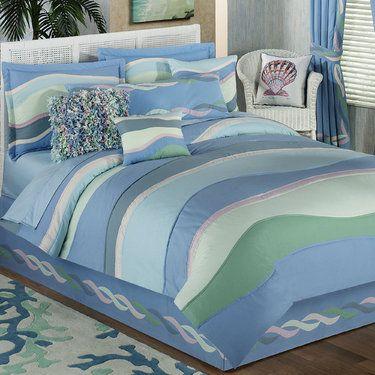 Waves Coverlet Bedding Comforter Sets Coastal Bedding Sets
