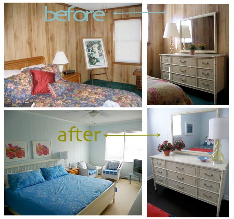 Painting Over Wood Paneling Before and After | painted wood paneling,  before/after - Painting Over Wood Paneling Before And After Painted Wood