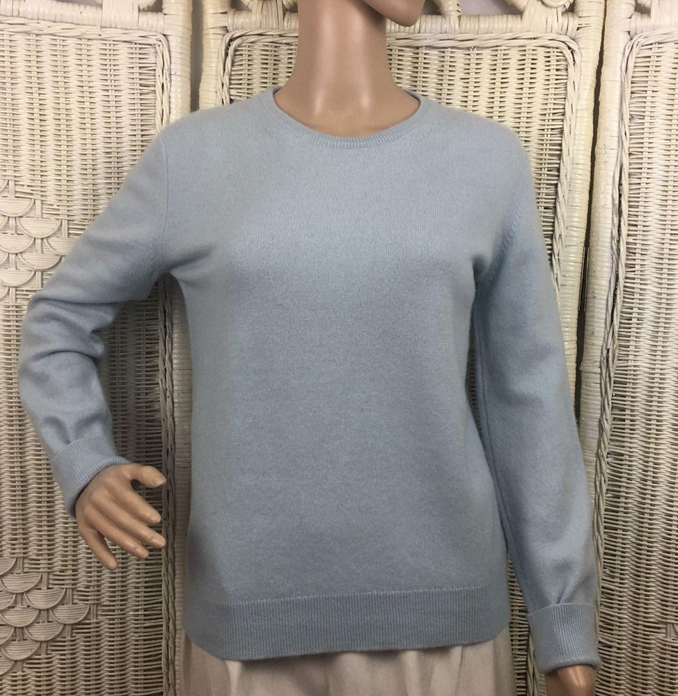 50'S/60'S Classic Cashmere Sweater~Woman's M~Lt Blue~JJ BENSON ...