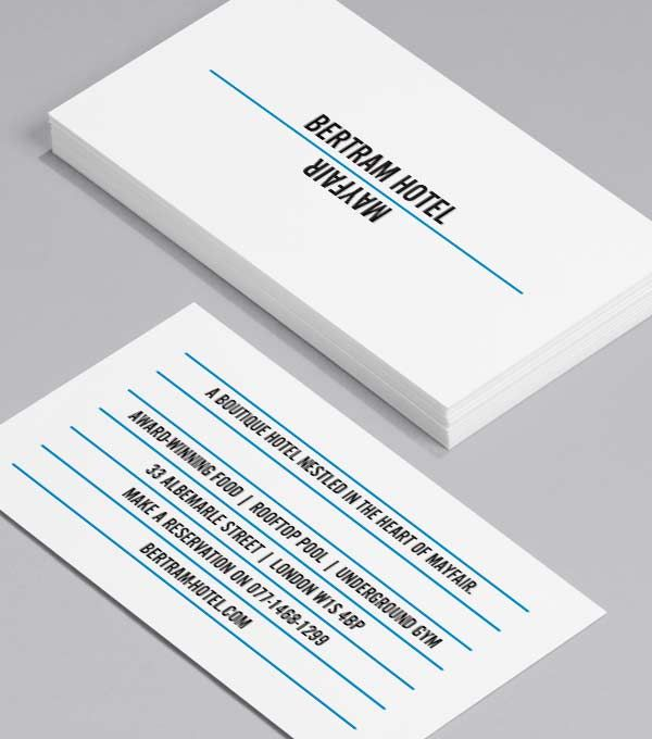 Blue Lines Some Blank For Notes Business Card Template Design Template Design Business Card Design