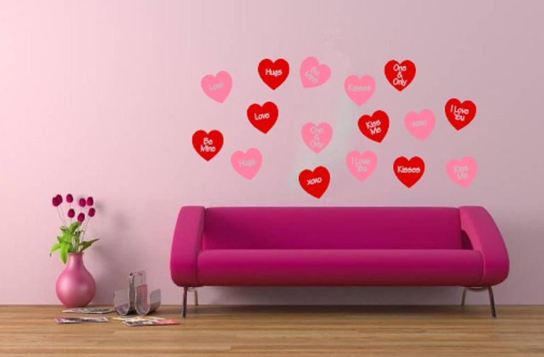 Wall Decal Conversation Hearts Set Of 16 Wall Decals Valentines Day Decor Removeable Vinyl Wall Decals 22249 Removable Vinyl Wall Decals Vinyl Wall Wall Murals Diy