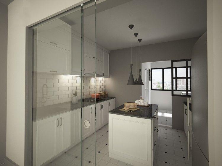 hdb kitchen design by designscale pte ltd minimalist kitchen design interior design on kitchen ideas singapore id=57635